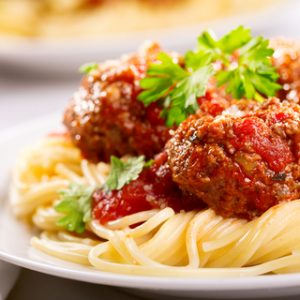 Herbed turkey meatballs with tomato sauce